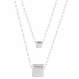 Jewelry - Sterling Silver Double Chain Necklace .